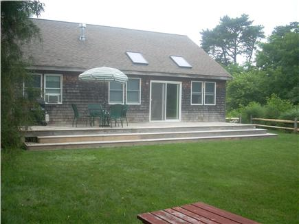 Edgartown Martha's Vineyard vacation rental - Back of house with deck and large outdoor shower