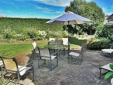 Siasconset Nantucket vacation rental - Lovely patio and large landscaped yard
