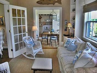 Siasconset Nantucket vacation rental - Den with view to Breakfast Room