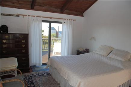 Madaket Nantucket vacation rental - Master Bedroom with sliders to the deck