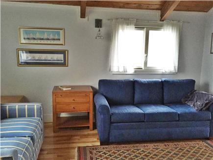 Madaket Nantucket vacation rental - Bedroom with pull out queen sofa & new  private bathroom