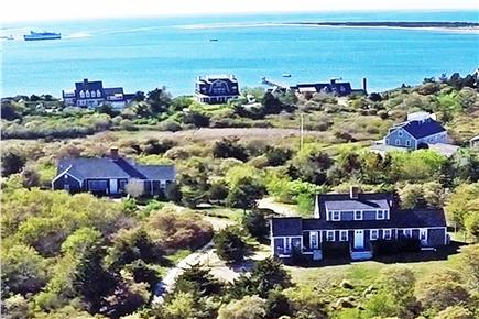 Shimmo Nantucket vacation rental - Harbor & House view.  House is one on lower right