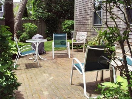 Nantucket town Nantucket vacation rental - Brick patio and small yard.  Outdoor shower in back.