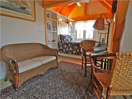 Siasconset Nantucket vacation rental - North bedroom with a queen sized bed, sleeping loft, high ceiling