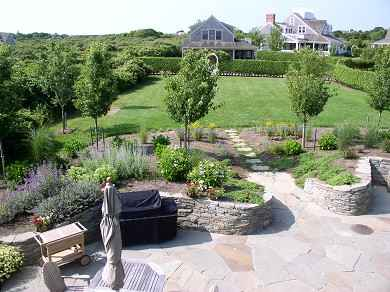 Siasconset Nantucket vacation rental - Outdoor dining on an acre of manicured grounds.