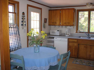 Surfside Nantucket vacation rental - Kitchen with dining area