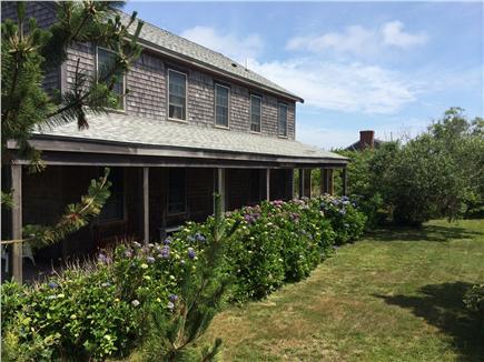 Madaket Nantucket vacation rental - Front porch