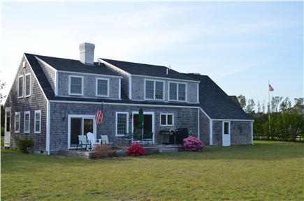 Cisco - Miacomet, Adjacent to Miacomet Golf Nantucket vacation rental - Back of house and deck