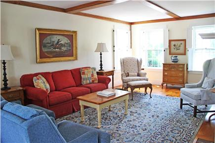 Nantucket town Nantucket vacation rental - Spacious living  w/fireplace, hidden hi-def T.V. & stereo system