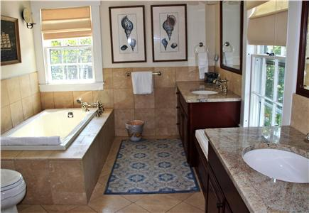 Nantucket town Nantucket vacation rental - Master Bath w/ bubble massage tub, and walk-in shower