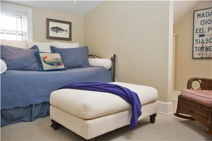 Tom Nevers, Sconset Nantucket vacation rental - Bedroom 4 Day bed with trundle, TV