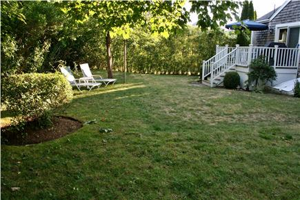 Nantucket town, Nantucket Nantucket vacation rental - Relaxing deck with furniture overlooking private yard