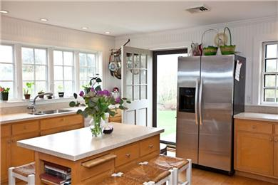 Wauwinet, Polpis Nantucket vacation rental - Kitchen with exit to wrap around deck and gas grill