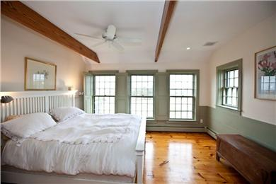 Wauwinet, Polpis Nantucket vacation rental - Master Bedroom with sitting area offers views of Polpis Harbor