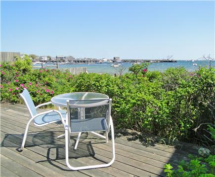 Nantucket town, Harborfront Nantucket vacation rental - Breathtaking views from deck, great for breakfast