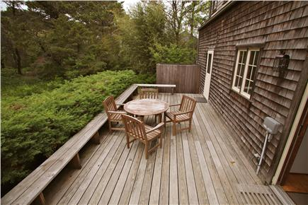 Madaket Nantucket vacation rental - Private deck, with outdoor shower at far end