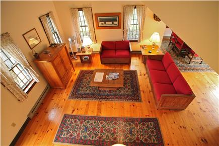 Madaket Nantucket vacation rental - View of living room from stairs