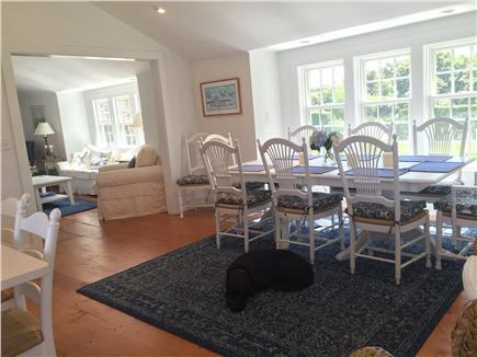 Siasconset Nantucket vacation rental - Sunny dining room with cathedral ceiling seats eight