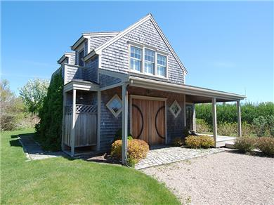Siasconset Nantucket vacation rental - The cottage with an outdoor shower.