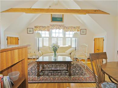 Siasconset Nantucket vacation rental - The living area with a comfortable couch.