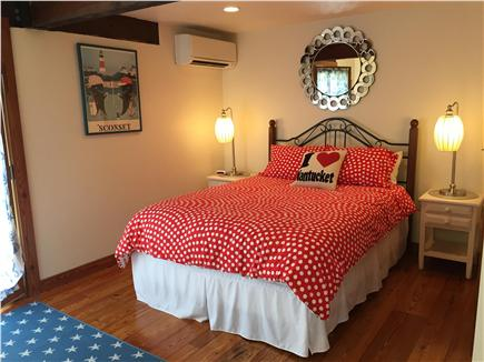 Tom Nevers, Nantucket Nantucket vacation rental - Downstairs queen-size bedroom with AC unit and door to outside