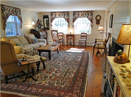 Nantucket town Nantucket vacation rental - Spacious living room w/ charming décor, TV, hardwood floors