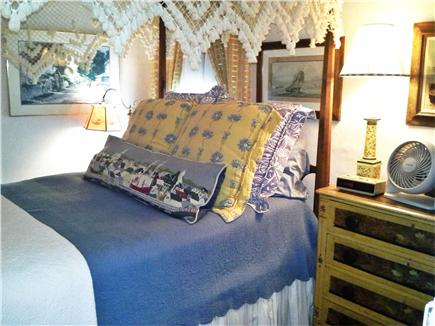 Nantucket town Nantucket vacation rental - Charming ''Middle Bedroom'' with double bed, TV, fan, fireplace.
