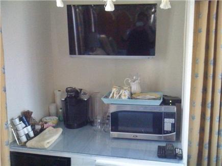 Nantucket town Nantucket vacation rental - Coffee Central in ''Back Bedroom'' w/ refreig, microwave & Keurig