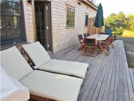 Nantucket town, Nantucket Nantucket vacation rental - Back deck, chaise lounges, outdoor dinning, Outdoor shower, grill