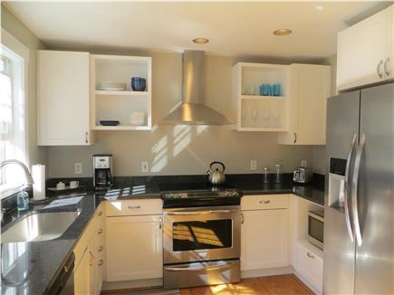 Mid-island, Naushop Nantucket vacation rental - Kitchen w/ granite counters and new stainless steel appliances