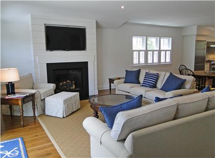 Nantucket town, Cliff Nantucket vacation rental - Living room with high definition, 3D, flat screen TV