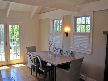 SURFSIDE Nantucket vacation rental - Dining room seats 6 friends,with French doors leading to deck