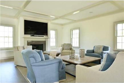 Nantucket town, Cliff Road Nantucket vacation rental - Family room with seating, Sonos, 75 inch TV and open to kitchen