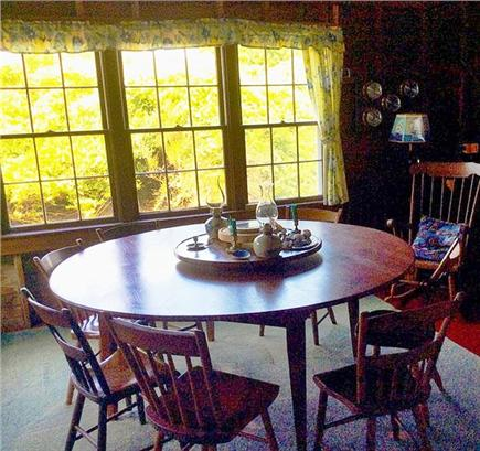 Dionis, Cliff Beach Nantucket vacation rental - Dining room table with lazy susan,