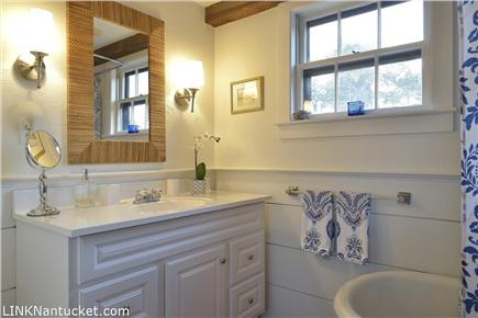 Cisco - Miacomet, Nantucket Nantucket vacation rental - Take a long soak in this claw footed bathtub and shower