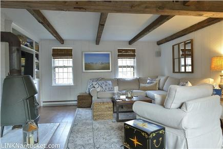 Cisco - Miacomet, Nantucket Nantucket vacation rental - Living room with wood burning stove is an ideal gathering spot