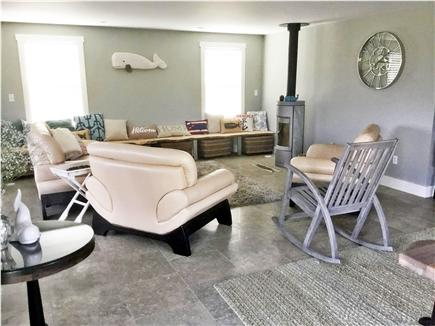 Nantucket town, Town Nantucket vacation rental - Living Room with Plenty Seating and  Wood Stove