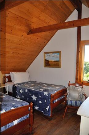 Surfside Nantucket vacation rental - Second floor bedroom, 2 twin beds and vaulted ceilings