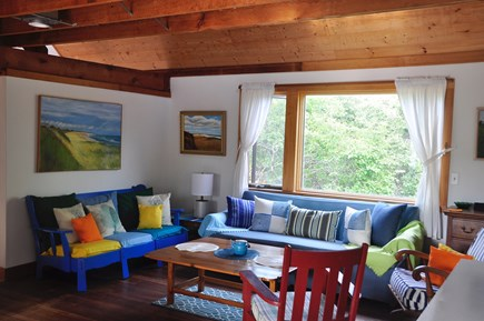 Surfside Nantucket vacation rental - Spacious living area with big picture window