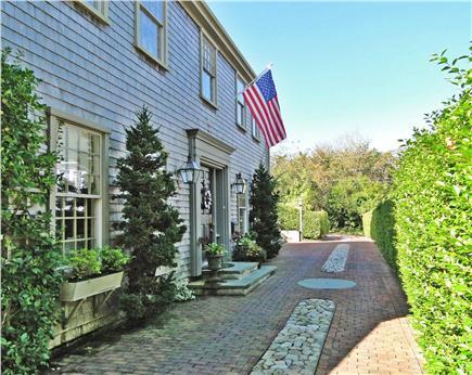 Nantucket town Nantucket vacation rental - Closer view of front entrance
