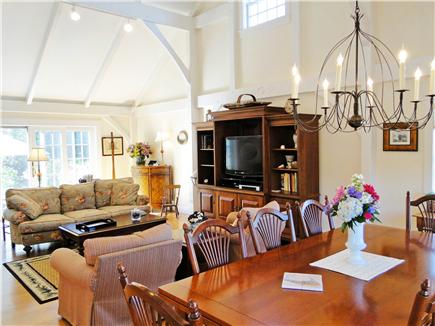 Nantucket town Nantucket vacation rental - Living room with cathedral ceilings
