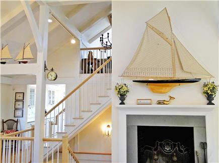Nantucket town Nantucket vacation rental - Living room fireplace