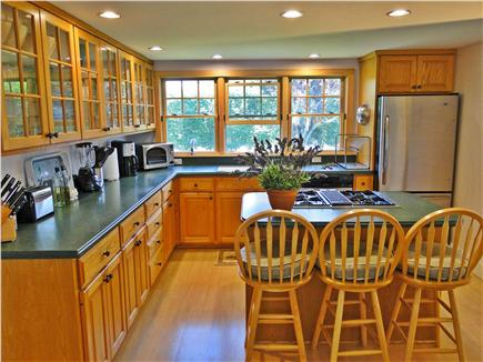Madaket Nantucket vacation rental - Bright kitchen with lovely wood work and modern appliances