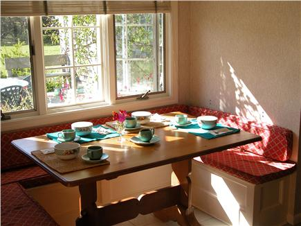 Tom Nevers East Nantucket vacation rental - Breakfast Nook...overlooking deck, back yard and gardens.