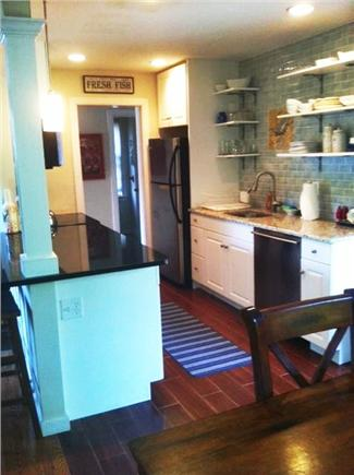 Mid-island, Naushop Nantucket vacation rental - NEW KITCHEN with bar...open to family room!