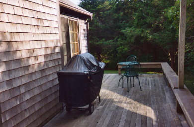 Mid-island, Nashaquisset Nantucket vacation rental - Enjoy relaxing on our expansive wrap around deck
